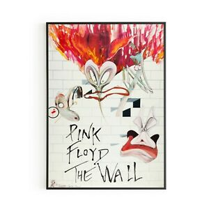 PINK FLOYD The Wall Group of Concerts 1980 Wall Art Print Poster Music Vintage