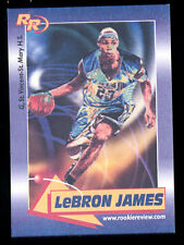 2003 Lebron James Rookie Review Card Blank Back Proof Card