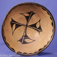 "Historic Era Kewa / Santo Domingo Pottery Dough Bowl c1890s Mint 12""x5"" Gorgeous"