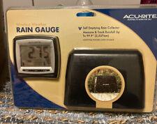 Acu^rite - Wireless Digital Rain Gauge ~Model 00896W - New Sealed