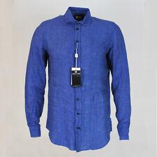Armani Collezioni Navy lino camisa. tamaño: Small-PVP: £ 195 Nuevo Con Etiquetas