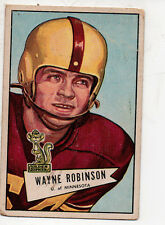1952 Bowman Large Football Card #68 Wayne Robinson-Philadelphia Eagles