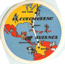 El Colombiano  ~AVIANCA AIRLINES~ Beautiful Old Luggage Label