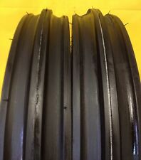 TWO 400x12, 400-12, 4.00x12, 4.00-12 Front 3 Rib Tractor Tires