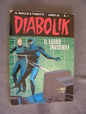 DIABOLIK ORIGINALE ANNO XL n°  1 - 2001 - RARO - OTTIMO