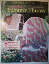8 Quick Summer throws afghans knit pattern chevron zig-zag mosiac ripple