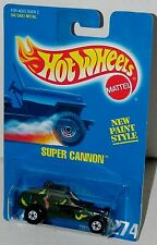 Hot Wheels Super Cannon Military Buggy Blue Card Collector #274 Malaysia 1994