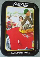 "COCA COLA COKE METAL TRAY ""TAKE SOME HOME"" mg CONVERTIBLE W/ tray magnet SIGN"