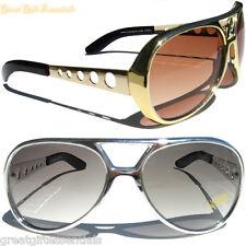 ELVIS Kill-Bill Style GOLD & SILVER 2 SUNGLASSES GLASSES Retro Jackass Knoxville