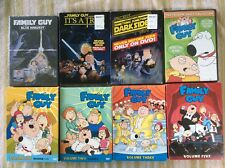 9 Lot Family Guy Vol 1,2,3,5 & Star Wars Trilogy DVD Blue Harvest Dark Side Trap