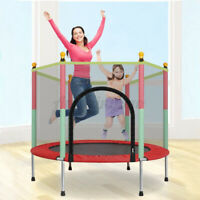 Jumping Round Trampoline Youth Kids Safety Net Pad Collapsible Exercise Fun US