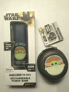 Star Wars Mandalorian The Child Earbuds w/Case and Power Bank