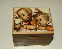 Vintage Wood Music Box MAPSA Dr. Zhivago Girl Boy Swiss Movement Music Box