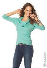 FLASHLIGHTS 3/4-lange Ärmel  Shirt + Schal in mint , Gr. 36/38 - Neu