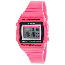 Brand New Casio Ladies Classic Analog Digital Stop Watch Glossy Pink W215H-4