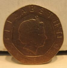 Great Britain 2000 20 Pence Error Coin Missing Layer Of Clad On Obverse