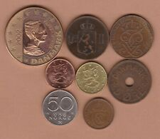 More details for eight coins from scandinavia 1876 to 2002 in a very fine or better condition.