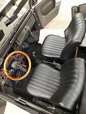 VW 181 Kübel Vordersitzbezug LUXUS schwarz Sitzbezüge Lehne u. Sitzfläche