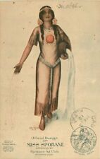1912 Miss Spokane Washington Native American Indian Art Gaddis Civic Booster