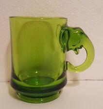 IMPERIAL GLASS HEISEY EWR 1974 FORD-ROCKEFELLER GREEN REPUBLICAN POLITICAL MUG