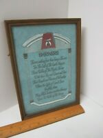 "Vintage Shriners Framed Wall Hanging 10 1/2"" High x  7 1/2"" W Under glass"