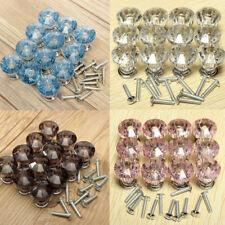 12pc/set Crystal Handles Glass Door Knobs Cupboard Drawer Wardrobe Diamond Knobs