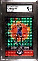 Anthony Davis 2019 Mosaic Jam Masters Green Prizm SGC 10 Los Angeles Lakers
