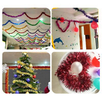 2M Tinsel Foil Garland Christmas Tree Xmas Wedding Party Home Decor