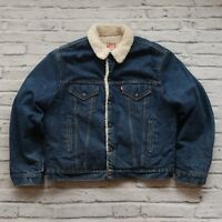 Vintage 90s Levis Denim Trucker Sherpa Jean Jacket Made in USA