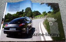 Evo Magazine Issue 133 - Porsche Panamera S - Renaultsport Clio 200 Cup