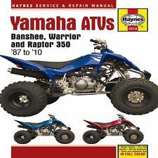 1987-2010 Haynes Yamaha ATVs: Banshee, Warrior & Raptor 350 Hardback Repair Manu
