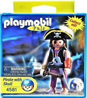 Playmobil Special 4581 Caribbean Pirate Captain With Skull  2003 Free Shipping