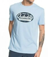 QUIKSILVER MENS T SHIRT.NEW WHAT WE DO BEST BLUE COTTON SHORT SLEEVED TOP 9W 92B
