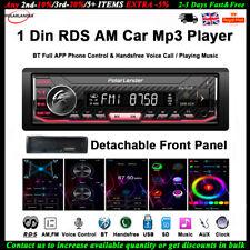 1 Din Car Radio MP3 Player App Control Voice for Siri AI AM BT Detachable RDS FM