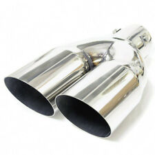 Double Exhaust Tip Trim Pipe For Audi 80 90 100 200 TT A1 A2 A3 A4 A5 A6 A7 A8