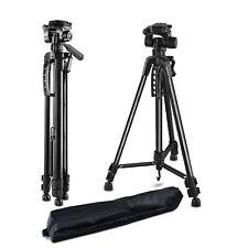 Camera Tripod Stand Holder Camcorder Mount Stabilizer Adjustable Aluminium 141cm