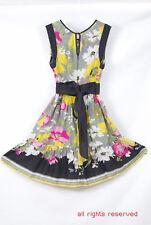 L087/42 Stunning Warehouse Pure Silk Sleeveless Floral Dress, size 8 Euro 36