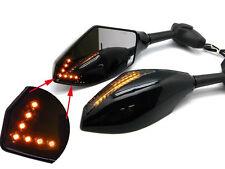 Black Intergrated LED Turn Signal Mirrors for Kawasaki Ninja ZX6R 636 ZX10R ZX14