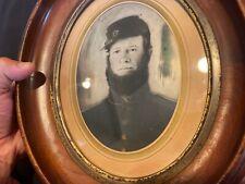 New listing Big 5X5 Antique Civil War soldier Tintype confederate photo Iowa battle of Tampa