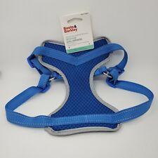 Boots & Barkley Medium Adjustable Dog Harness Blue Reflective Step In Comfort