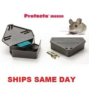3 x Mouse Trap Bait stations Plastic Lockable with Key, Bell Labs Protecta RTU