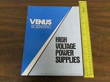 Venus Scientific High Voltage Power Supplies Catalog 1980s