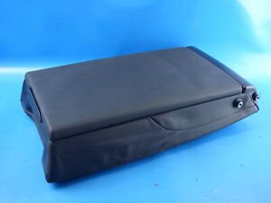 Audi A6 Avant 4G C7 Facelift Center Armrest Rear Back Seat Leather Black