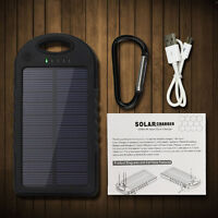 5000 mah Dual-USB Portable Solar Power Bank External Battery Cell Phone Charger