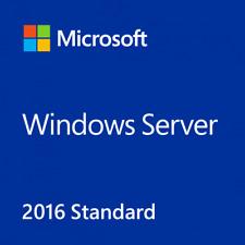Windows Server 2016 Standard / 64-Bit / 16 Core / Key & DVD / Reinstall