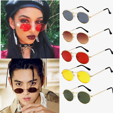 Unisex Vintage Round Metal Frame Sunglasses Retro Shades Trendy Outdoor Glasses