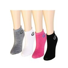 New Lot 12 Pairs Womens Ankle Cotton Designer Peace Sign Logo Socks Size 9-11