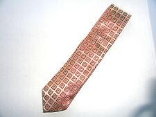 Ermenegildo Zegna Beige Silk Geometric Mens Woven Necktie Tie