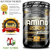 MUSCLETECH PLATINUM 100% AMINO 2300 ULTRA PREMIUM AMINOS + FREE SHIPPING