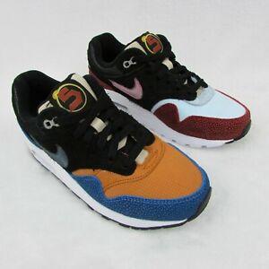 Nike Air Max 1 GS Swipa DeAaron Fox Orange Blue Red Shoes 4.5y CJ9888-001